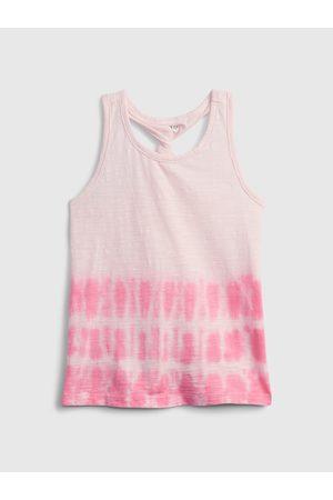 GAP Dívky Se širokými ramínky - Růžový holčičí dětský top twist back tank