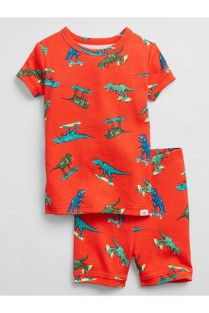 GAP Oranžové klučičí dětské pyžamo 100% organic cotton dino pj set