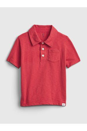 GAP Červené klučičí dětské polo tričko shirt