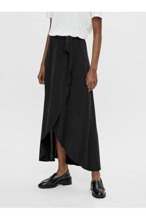 Object Černá zavinovací maxi sukně Jannie