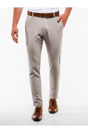 Ombre Clothing Pánské chinos kalhoty P832 - béžové