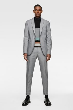 Zara Oblekové sako se strukturou panama