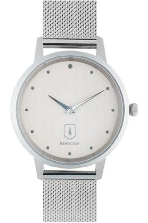 BeWooden Dřevěné hodinky Diamond Sky Watch s řemínkem z pravé kůže