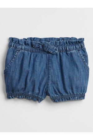 GAP Modré holčičí baby kraťasy denim bubble shorts