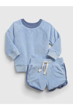 GAP Modrý klučičí baby set knit outfit
