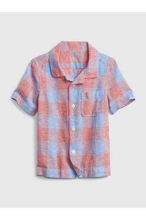 GAP Barevná klučičí dětská košile shirt