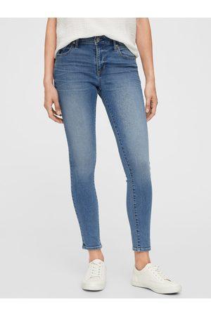 GAP Modré dámské džíny mid rise universal legging jeans