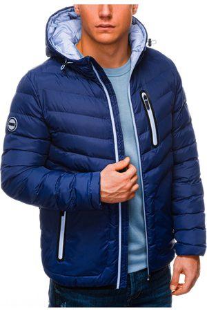 Ombre Clothing Pánská jarní bunda C356 - námořnická