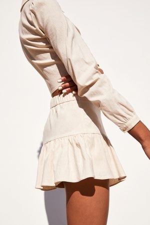 Zara šortková sukně s volánem