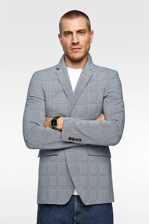 Zara Oblekové sako s kostkou coolmax®
