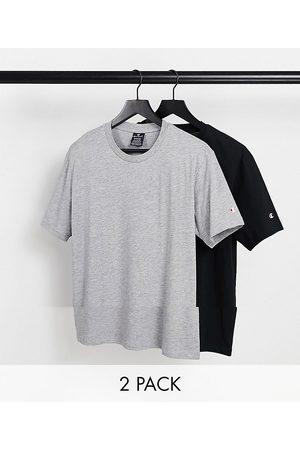 Champion Muži S krátkým rukávem - 2 pack small logo t-shirts in grey and black-Multi