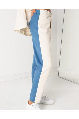 Daisy Street Ženy S vysokým pasem - Mom jeans in colour block denim co-ord-Blue