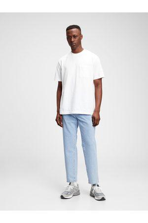 GAP Modré pánské džíny straight jeans with Flex