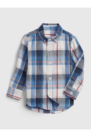 GAP Klučičí dětská košile print poplin shirt