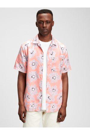 GAP Pánská košile short sleeve camp collar