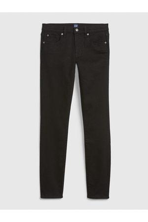 GAP Černé dámské džíny mid rise true skinny jeans