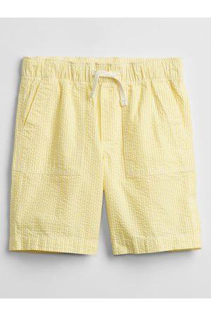 GAP Žluté klučičí dětské kraťasy pull-on shorts