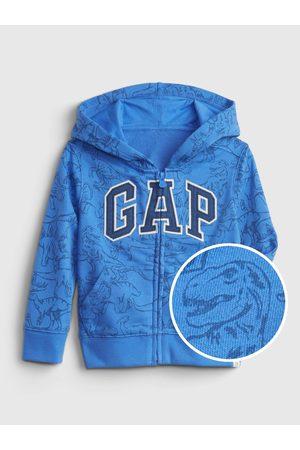 GAP Klučičí dětská mikina Logo dinosaur graphic hoodie