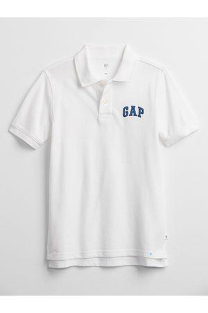 GAP Bílé klučičí dětské polo tričko Logo polo shirt