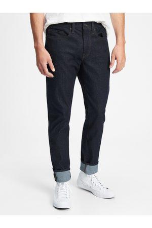 GAP Modré pánské džíny all temp slim taper jeans with Washwell