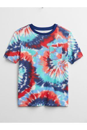 GAP Barevné klučičí dětské tričko tie-dye pocket t-shirt