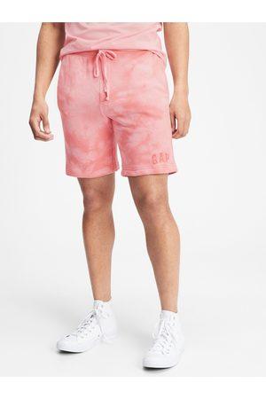 GAP Růžové pánské kraťasy Logo tie-dye pull-on shorts
