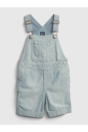 GAP Modré klučičí dětské džínové kraťasy s laclem shortall denim