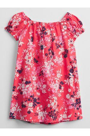 GAP Růžové holčičí dětské šaty smocked floral swing dress
