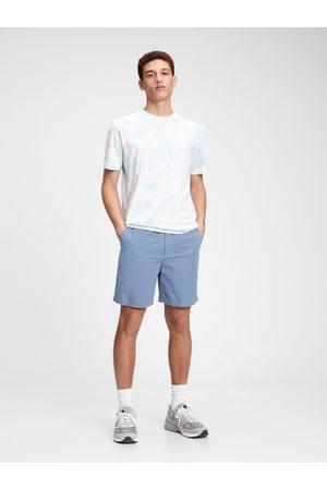 "GAP Modré pánské kraťasy 7 easy linen shorts with e-waist """