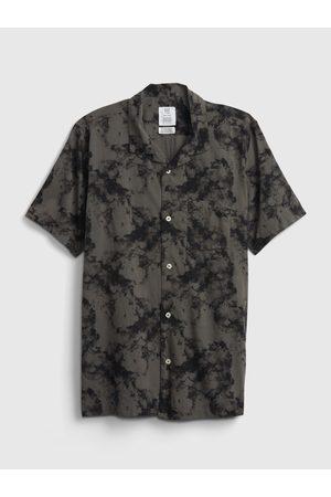 GAP Černé klučičí dětské polo tričko teen camp shirt