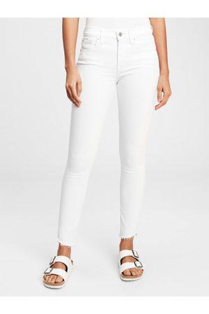GAP Bílé dámské džíny mid rise true skinny jeans