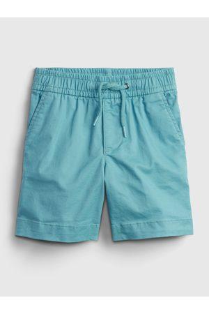 GAP Modré klučičí dětské kraťasy easy pull-on shorts with Washwell