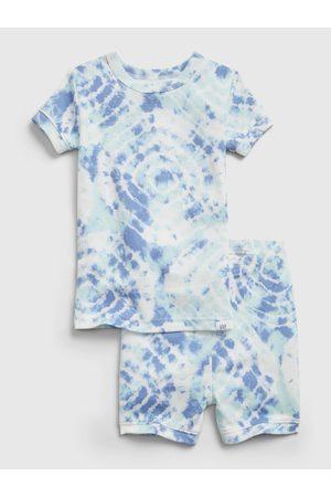 GAP Modré klučičí dětské pyžamo organic cotton tie-dye pj set