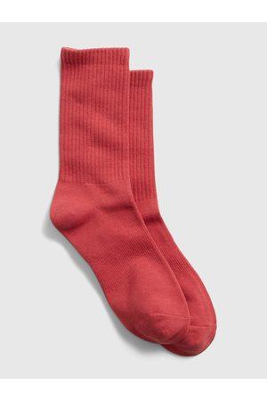 GAP Červené pánské ponožky athletic crew socks