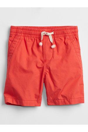 GAP Červené klučičí dětské kraťasy pull-on shorts with Washwell