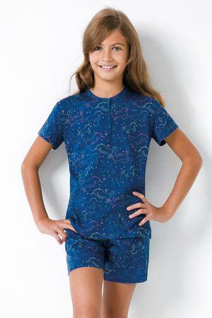 JADEA Dívčí pyžamo Jednorožec modré II