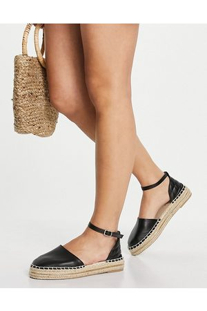 New Look Ženy Espadrilky - Quilted back strap espadrille in black