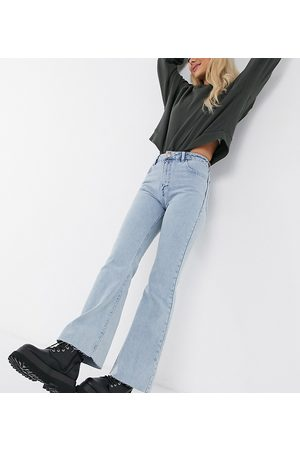 Reclaimed Vintage Inspired The '86 super wide flare jean in light stone wash-Blue