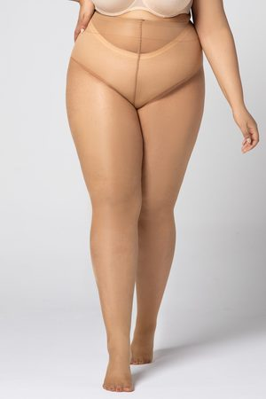 MONA QUEEN Punčochové kalhoty Plus Size Hip Notic 20 DEN