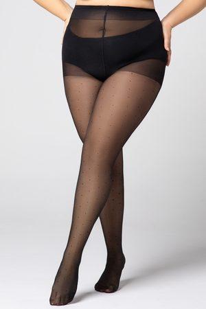 MONA QUEEN Ženy Punčochy - Punčochové kalhoty Plus Size Dots 30 DEN