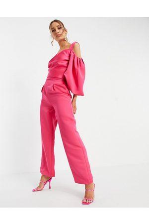Yaura Ženy Společenské - Tailored trouser co-ord in hot pink
