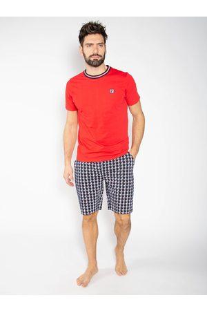 Fila Muži Pyžama - Modro-červené pánské pyžamo