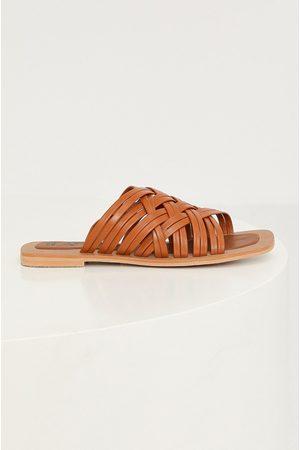 Answear Lab Ženy Pantofle - Kožené pantofle