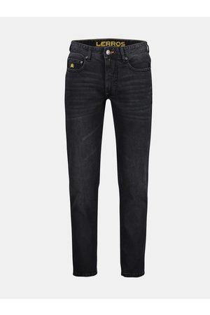 Lerros Tmavě šedé pánské slim fit džíny