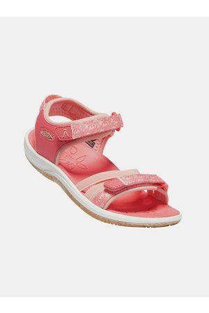 Keen Růžové holčičí květované sandály