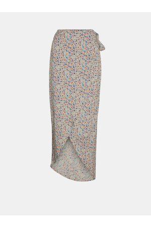Noisy May Ženy Midi - Květovaná zavinovací midi sukně Asta