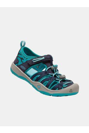 Keen Modré dětské vzorované sandály