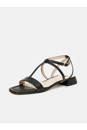 Högl Ženy Sandály - Černé dámské kožené sandály
