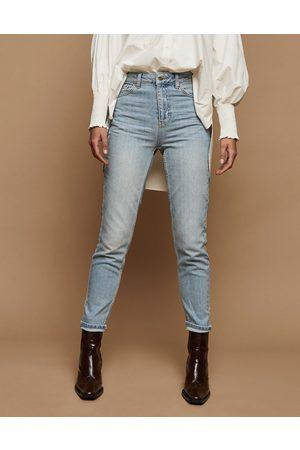 Topshop Ženy Mom džíny - Premium mom jeans in bleach-Blue