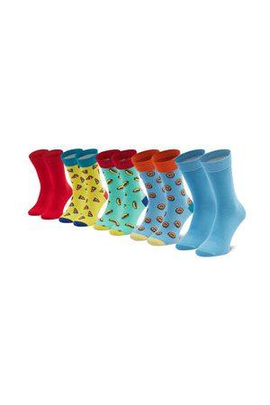 JACK & JONES Sada 5 párů pánských vysokých ponožek